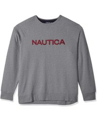 Nautica Boys Oversized Fleece Crew Neck Sweater