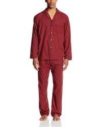 Hanes Woven Plain-weave Pajama Set - Red