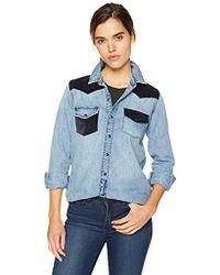 b3c869f0eb Lucky Brand - Remade Denim Button Up Western Shirt - Lyst