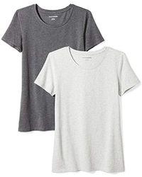 Amazon Essentials - 2-pack Classic-fit Short-sleeve Crewneck T-shirt - Lyst