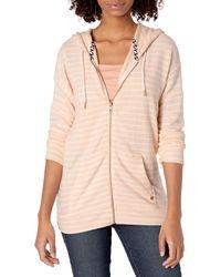 Volcom Lil Zip Hooded Fleece Sweatshirt - Pink