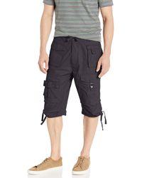 Sean John Shorts, Classic Flight Cargo Shorts - Black