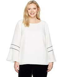 Calvin Klein - Plus Size Text L/s W/piping - Lyst