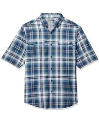 Wolverine Springport Short Sleeve Shirt - Blue