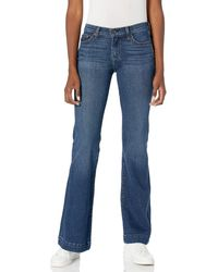 7 For All Mankind Tailorless Dojo Regular Fit Flared Jeans - Blue
