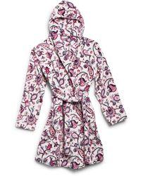 Vera Bradley Womens Plush Fleece Robe Loungewear - Pink