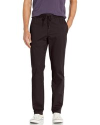 Goodthreads Straight-Fit Washed Chino Drawstring Pant Casual-Pants - Negro