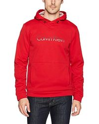 Calvin Klein - Space Dye Logo Pullover Hoodie - Lyst