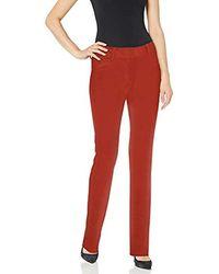 Norma Kamali Boot Leg Jean - Red