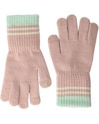 Steve Madden Womens S 3 Stripe Magic Glove - Pink