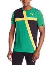 e1e8b6f72 Lyst - PUMA Country Fan Wow T-shirt in Green for Men
