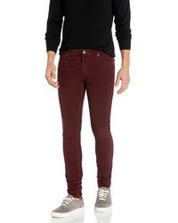 Nudie Jeans Adult's Skinny Lin Burgundy Cord - Purple