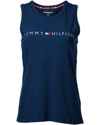 Tommy Hilfiger Logo Tank - Blue