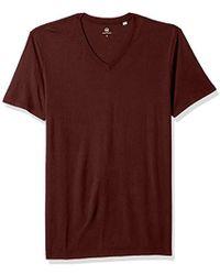 AG Jeans Bryce Short Sleeve Vee Neck Tee - Purple