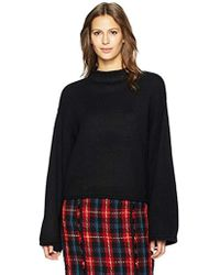 33b5d90587df6 Lyst - Anne Klein Sleeveless Turtleneck Sweater in Black