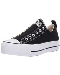 96367a5d30e2 Lyst - Converse Chuck Taylor(r) All Star Canvas 3v Ox (black black ...