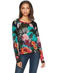 Desigual - Hawai Woman Flat Knitted Thin Gauge Pullover - Lyst