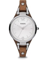 Fossil Georgia Analog Silver Dial Women's Watch - Es3060 - Multicolor