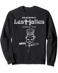 Perry Ellis Vintage Looking Brasserie Les Halles For Sweatshirt - Black