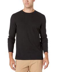 Amazon Essentials Regular-Fit Long-Sleeve Waffle Henley Camicia - Bianco