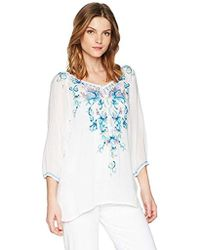 Johnny Was - Blue Moon Blouse - Lyst