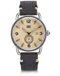 Frye Men's Weston Black Leather Watch