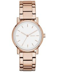 DKNY - Ny2344 Soho Rose Gold-tone Stainless Steel Watch - Lyst