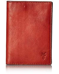 Frye Leather Passport Case - Red