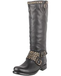 Frye Jenna Studded Tall Knee-high Boot - Black