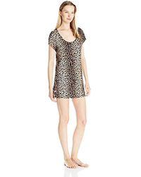 Betsey Johnson - Rayon Knit Henley Sleepshirt - Lyst