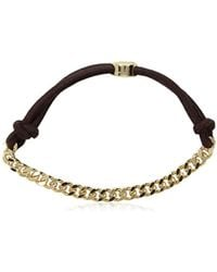 Kenneth Cole - Brown Hair Tie With 6mm Curb Chain Hair Accessory, One Size - Lyst