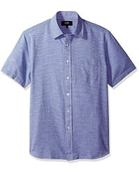 Jack Spade - Cliff Short Sleeve Horizontal Fine Stripe Point Collar Shirt - Lyst