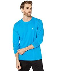 Polo Assn U.S Mens Striped Rib Mock Neck 1//4 Zip Pullover
