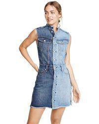 Hudson Jeans Diy-pieced Dress - Blue