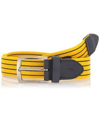 Nautica Casual Plaque Belt - Yellow