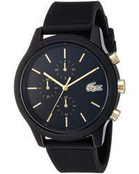 Lacoste Tr90 Quartz Watch With Rubber Strap, Blue, 20 (model: 2011011)