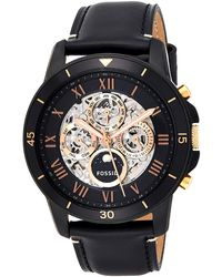 Fossil Grant Sport ME3138 Black Leather Automatic Fashion Watch - Nero