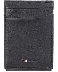 Tommy Hilfiger Rfid Slim Front Pocket Wallet - Black