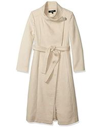 Kenneth Cole Belted Fencer Maxi Wool - Natural