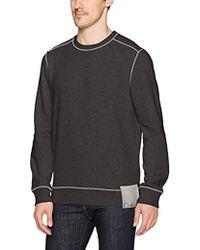 Calvin Klein - Jeans Ckj Chest Logo Crewneck Sweatshirt With Raw Edge Seams, - Lyst