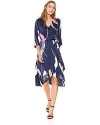 Vero Moda - Laksmi 3/4 Sleeve Length Calf Dress - Lyst
