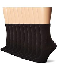 Hanes - S Cushioned Crew Athletic Socks 10-pack (683/10) - Lyst