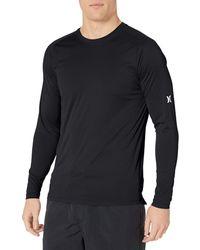 Hurley Nike Dri-fit Long Sleeve Sun Protection +50 Upf Rashguard - Black