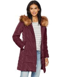 Cole Haan - Taffeta Quilted Down Coat With Hood - Lyst