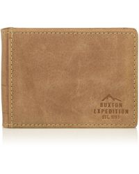 Buxton Expedition Ii Rfid Leather Front Pocket Money Clip Wallet - Multicolor