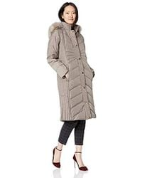 fdfb70b68 Down Coat With Faux Fur Trimmed Hood - Natural