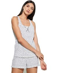Calvin Klein Jersey Tank and Short Pajama Pyjama Set - Weiß