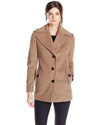 Calvin Klein - Single Breated Wool Coat - Lyst