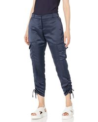 Parker Emerson Fixed Waist Drappy Cargo Pant - Blue