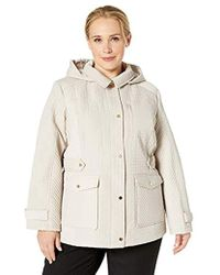 c86c1529f65 Jones New York - Plus Size Quilted Jacket With Detachable Hood - Lyst